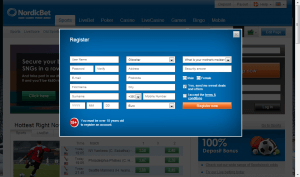NordicBet registrering